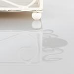 Majestic Rose Ferforje Dekoratıf Tabak 33x18x5,5 Cm Beyaz