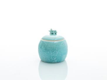 Snowland Stoneware Dekoratif Kutu 7,6x7,6x8 Cm Mavi