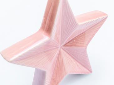 Snowflake Stoneware Biblo 15,2x2,8x14 Cm Pembe