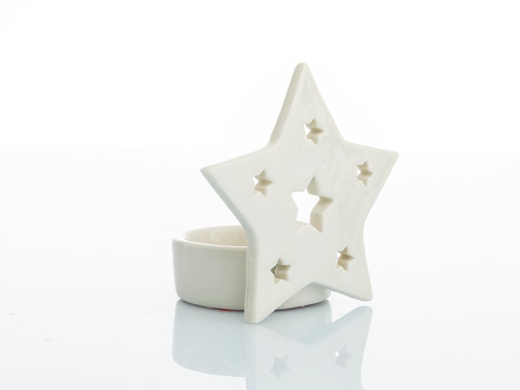 Star Stoneware Mumluk 8,1x5,8x7,7 Cm Krem
