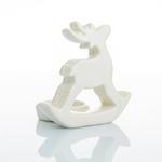 Deer Stoneware Mumluk 10,5x8x10 Cm Krem