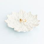 Elegant Stoneware Dekoratıf Tabak 20,5x20,8x4,2 Cm Beyaz