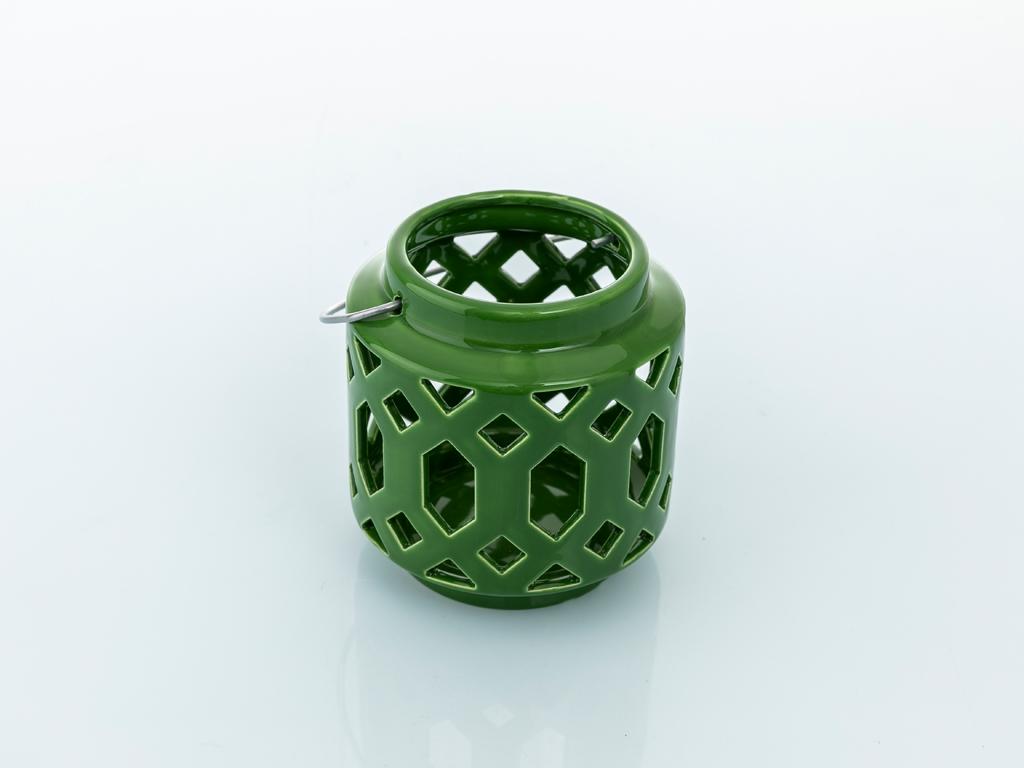 Winter Stoneware Mumluk 12x12x12 Cm Yeşil