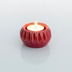 Holly Stoneware Mumluk 6,8x6,8x4 Cm Kırmızı