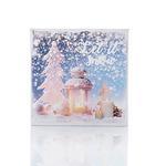 Let İt Snow Tablo 28x28 Cm Beyaz