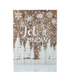 Snowland Ahşap Tablo 40x50x5,5 Cm Kahve