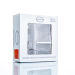 Elegant Cam 3'lü Banyo Setı 370ml+308ml+11,8x6,5x6,9 Cm Şeffaf