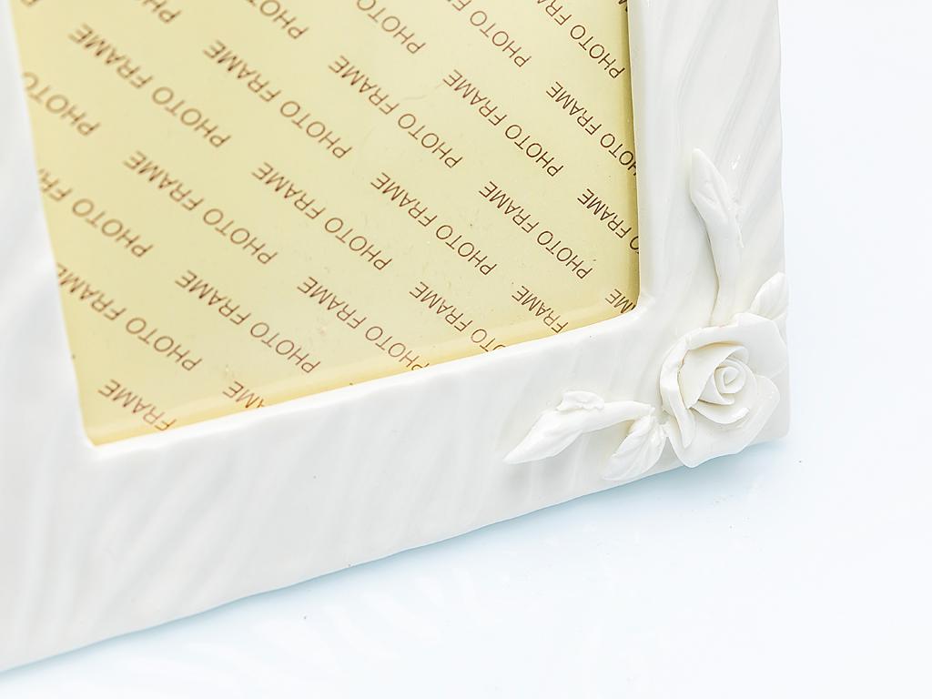 Georgeous Rose Stoneware Çerçeve 5x18x22,8 Cm Beyaz
