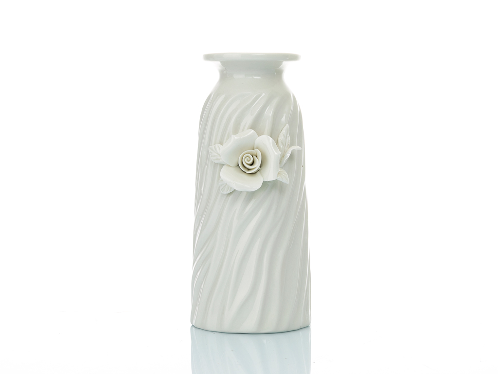 Georgeous Rose Stoneware Mumluk 8x9x21 Cm Beyaz
