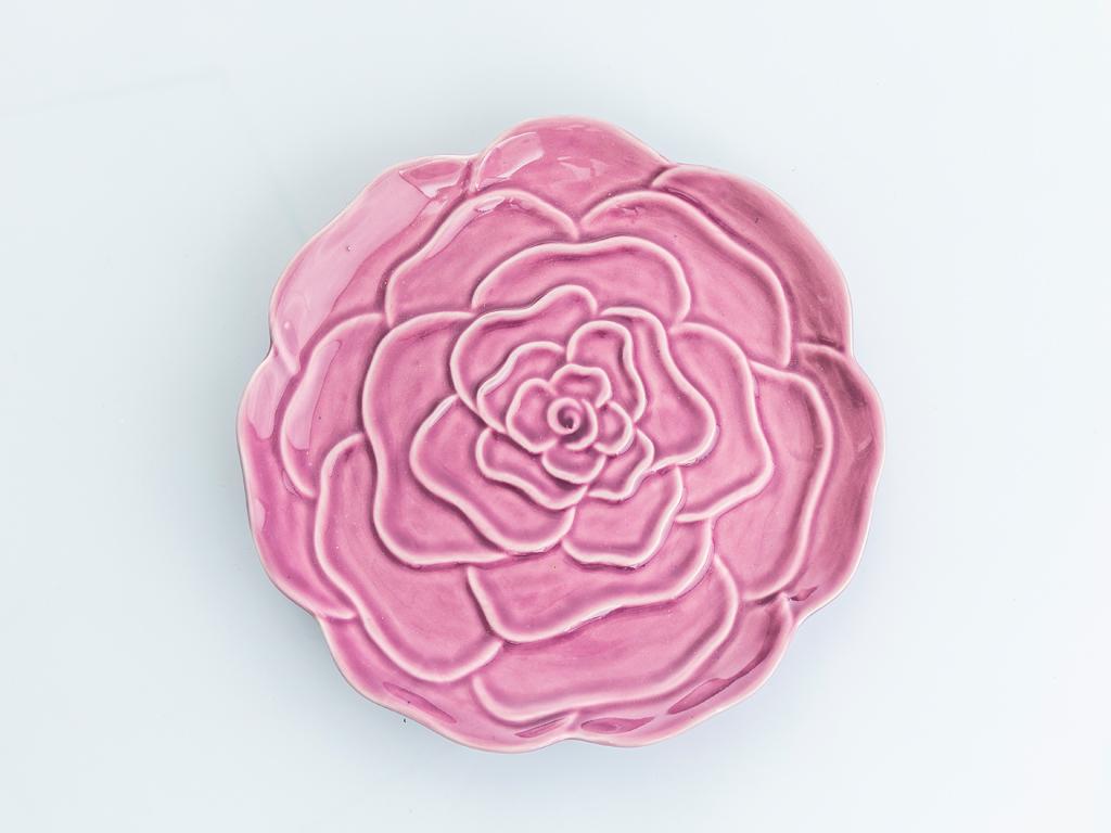 Rose Luster Stoneware Dekoratıf Tabak 2x20,5x20,5 Cm Mor