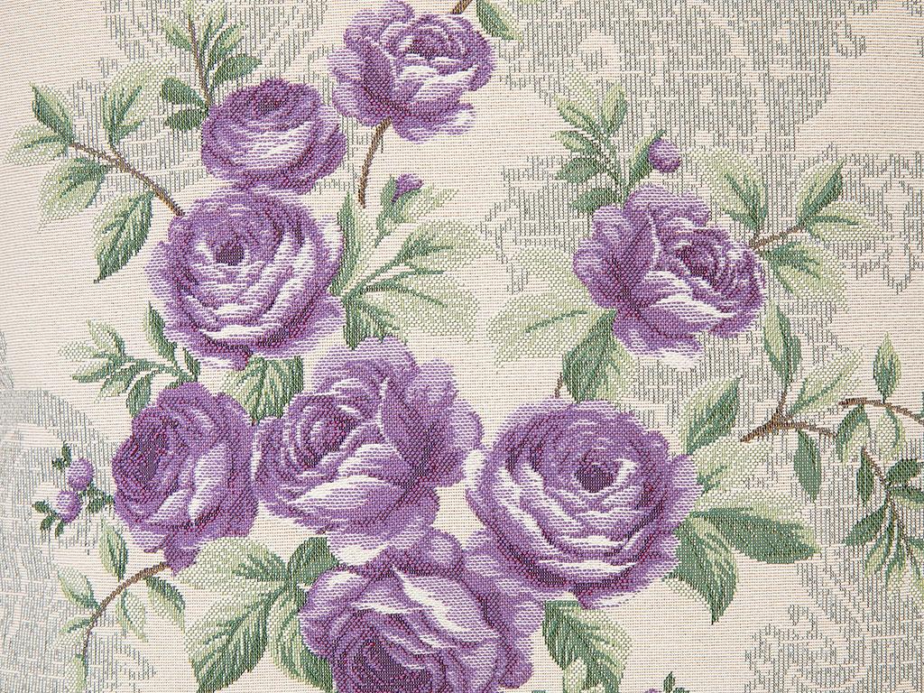 Rose Luster Goblen Kırlent 45x45 Cm Mor