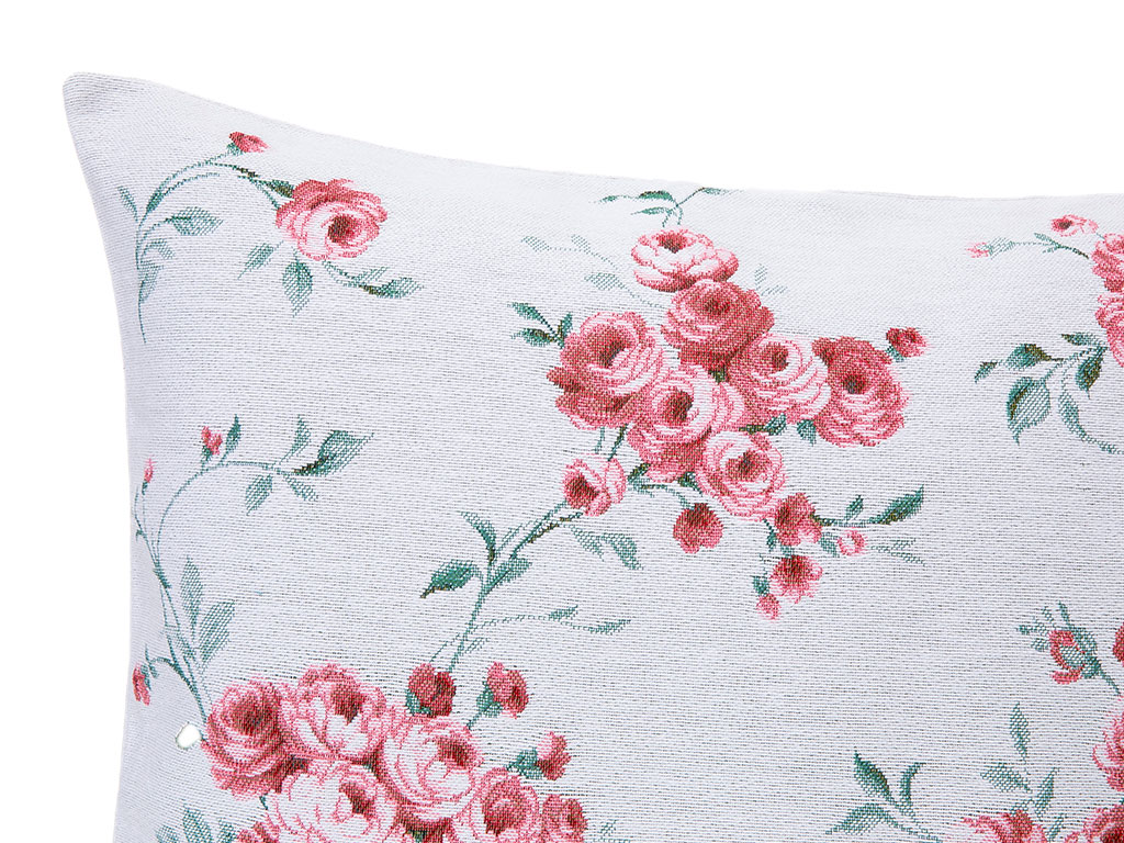 Chichi Roses Goblen Kırlent Kılıfı 45x45 Cm Pembe