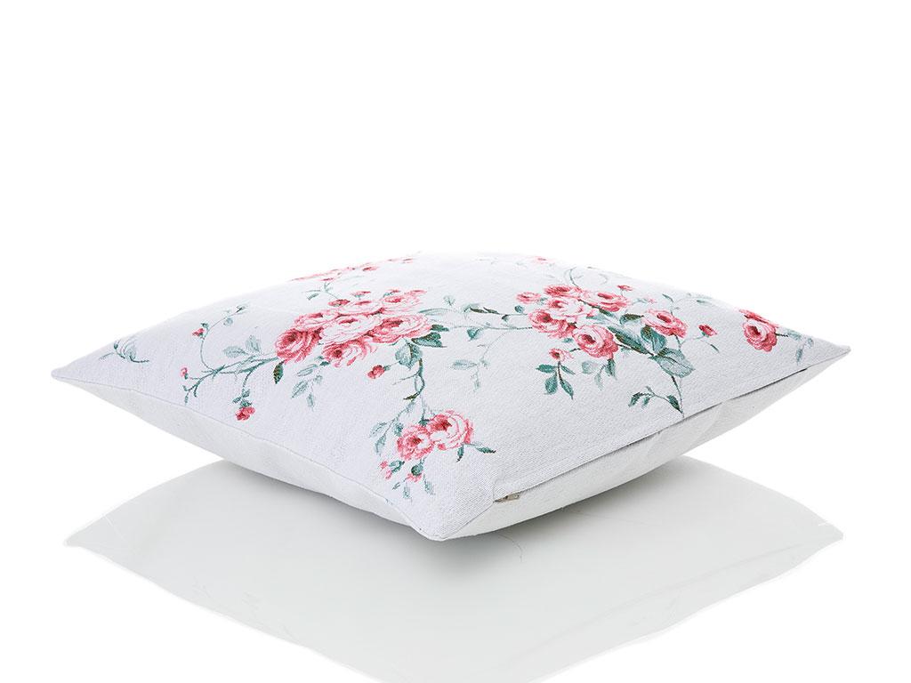 Chichi Roses Goblen Kırlent 45x45 Cm Pembe