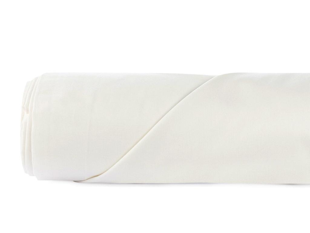 Düz Pamuklu King Size Çarşaf 260x280 Cm Kırık Beyaz