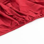 Düz Pamuklu Tek Kişilik Lastıklı Çarşaf 100x200 Cm Kırmızı