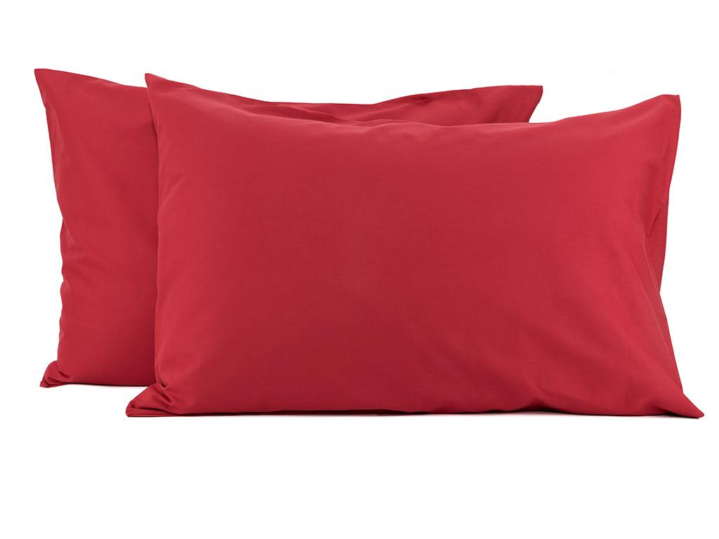 Düz Pamuklu 2'li Yastık Kılıfı 50x70 Cm Kırmızı