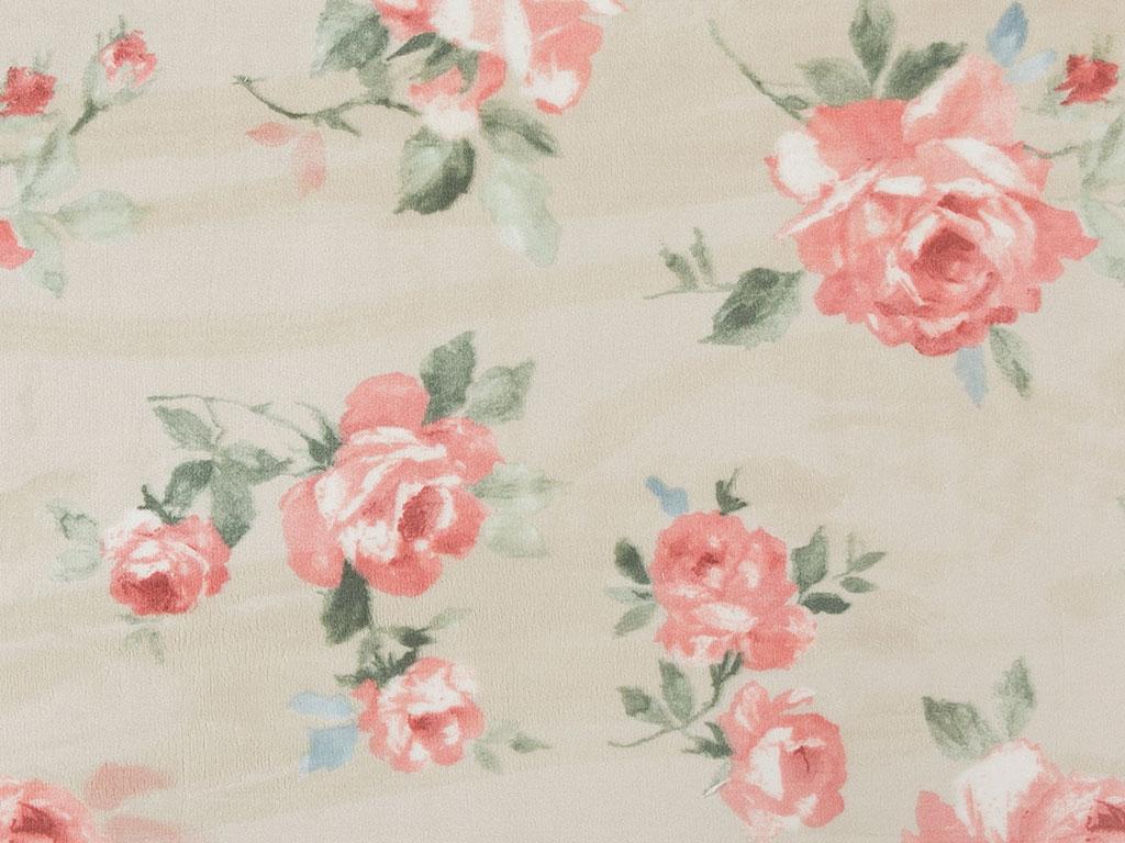 Georgeous Rose Baskılı Halı 120x180 Cm Pembe