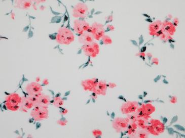 Chichi Roses Baskılı Halı 80x150 Cm Beyaz - Pembe