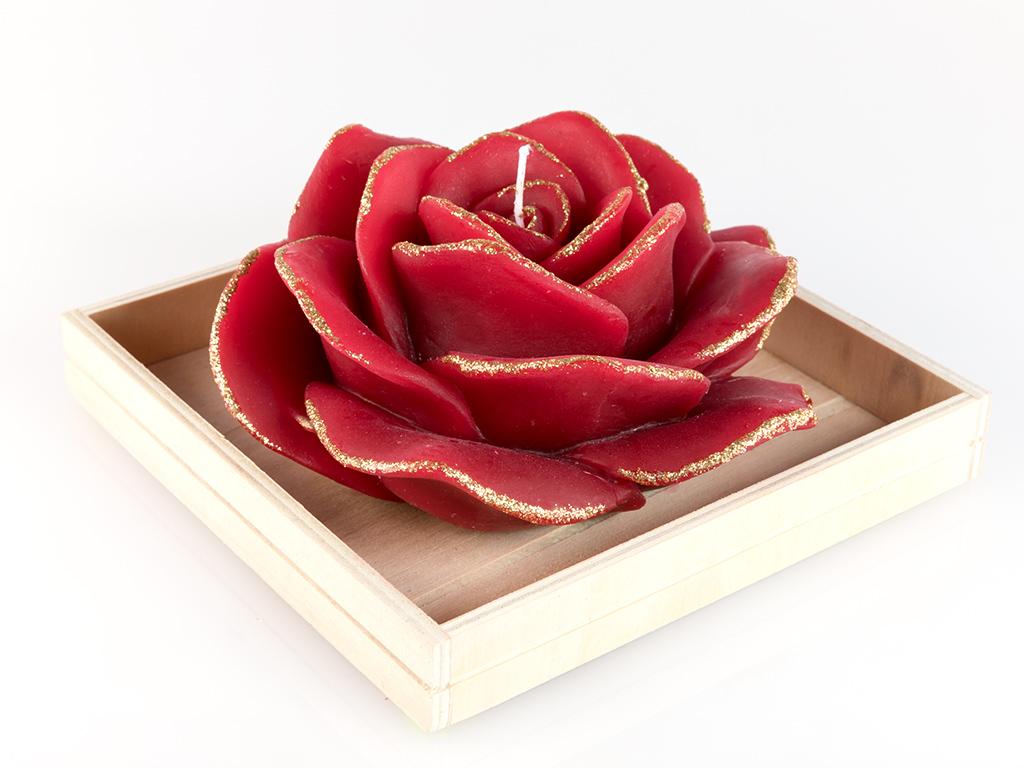 Glam Rose Mum 14.2x14x7,2 Cm Kırmızı