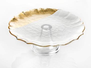 Queen Cam Kek Standı 21 Cm Gold