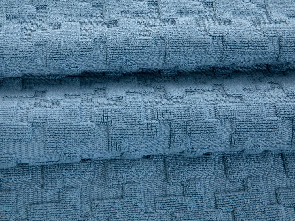 Winter Life Jakarlı Ayak Havlusu 60x100 Cm Mavi