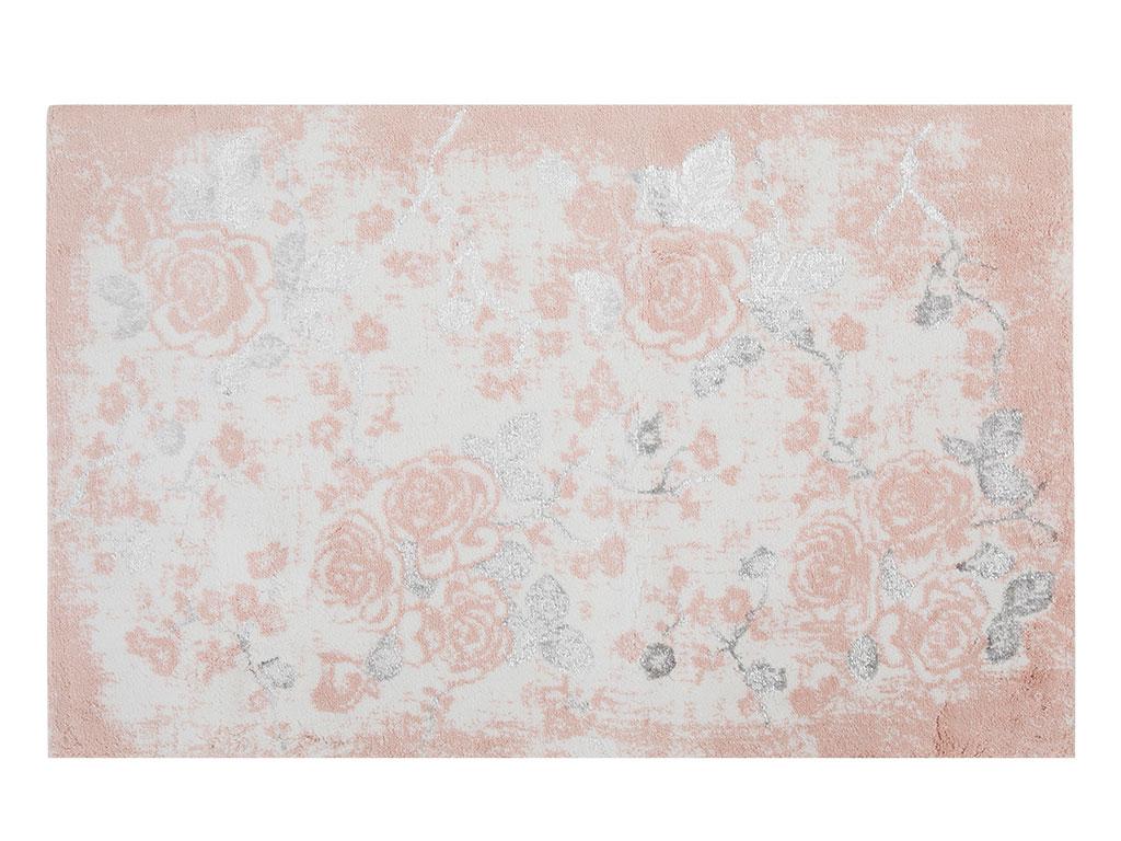 Rose Dream Pamuklu Floş Banyo Paspası 60x90 Cm Pembe