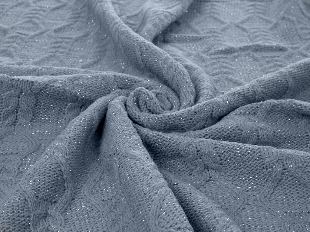 Luxury Triko Bebe Battanıye 90x90 Cm Koyu Mavi