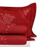 Majestic Rose Örme Çift Kişilik Yatak Örtüsü Takımı 240x260 Cm Bordo