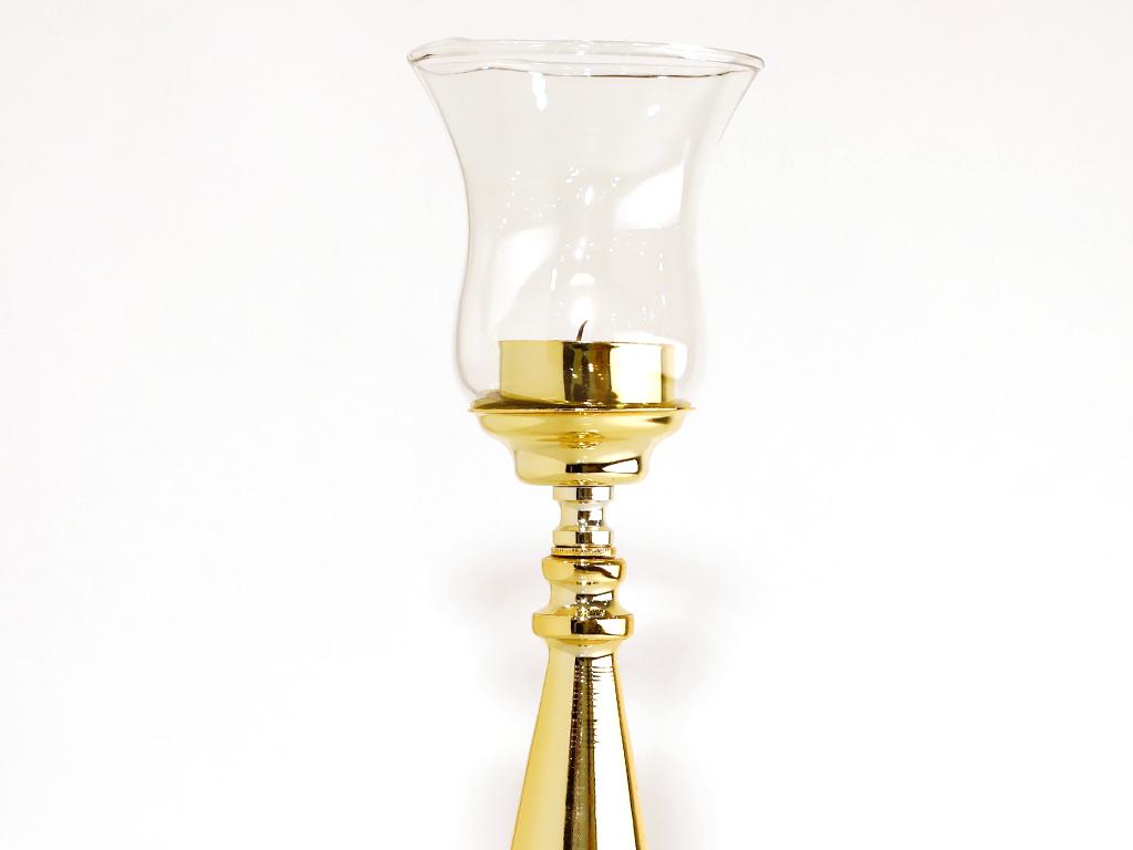 Tiara Metal Mumluk 10x10x31 Cm Gold