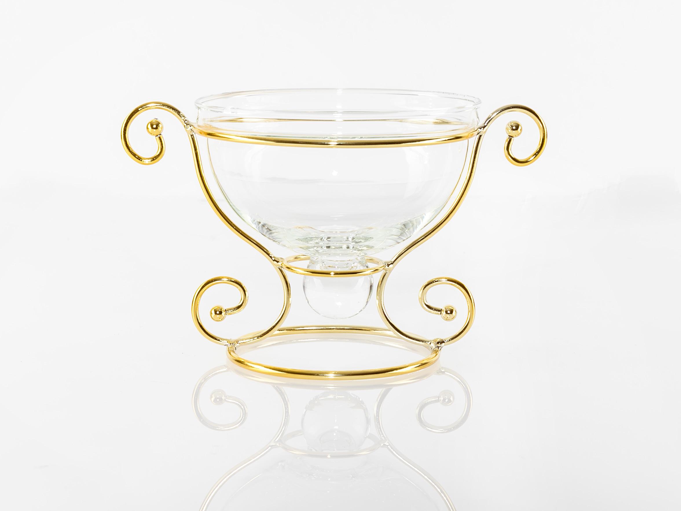 Luxury Dekoratıf Tabak 19,5x13,2x11,8 Cm Gold