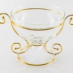 Luxury Dekoratif Tabak 19,5x13,2x11,8 Cm Gold
