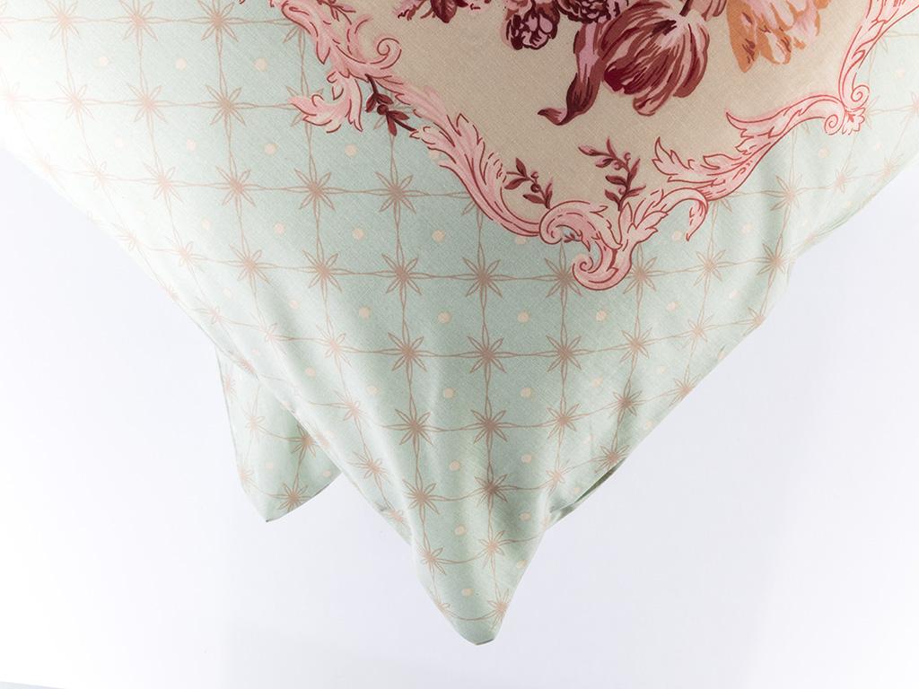 Vintage Glam Pamuklu 2'li Yastık Kılıfı 50x70 Cm Seledon