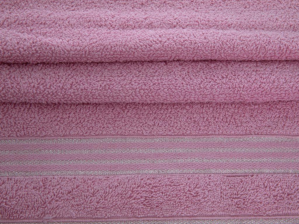Glam Stripe Simli El Havlusu 30x45 Cm Pembe