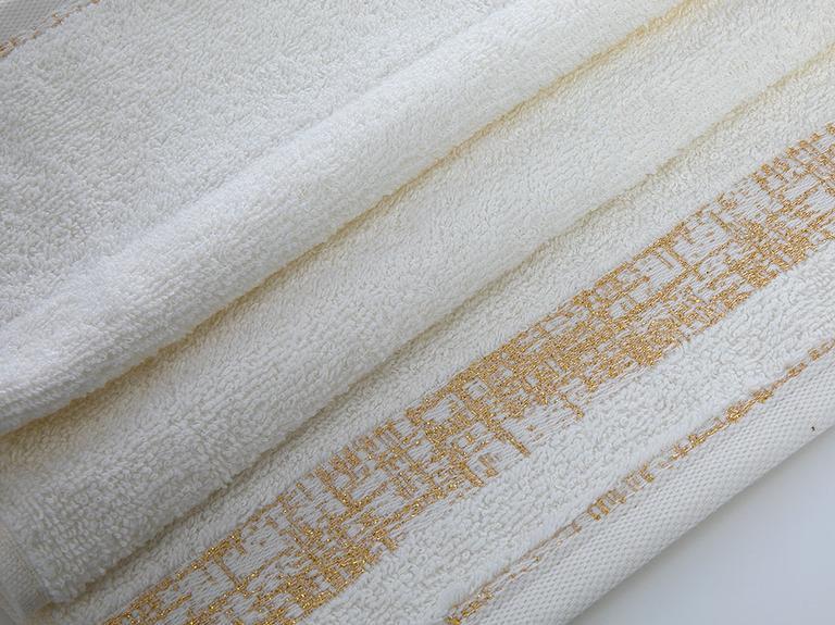 Glam Bordure Simli El Havlusu 30x45 Cm Krem-altın