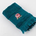 Rose Luster Nakışlı El Havlusu 30x45 Cm Koyu Yeşil