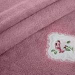 Rose Passion Nakışlı Yüz Havlusu 50x80 Cm Gül Kurusu