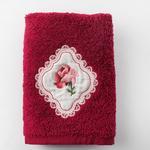 Rose Passion Nakışlı El Havlusu 30x45 Cm Bordo