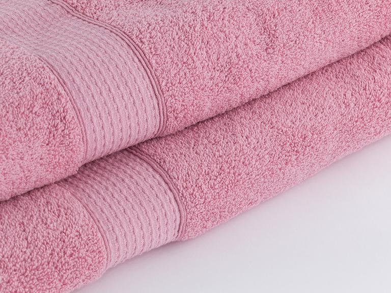 Pure Basic Banyo Havlusu 100x150 Cm Açık Gül Kurusu