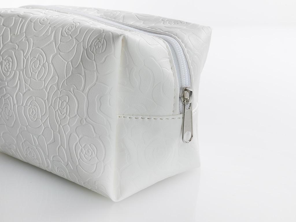 Glam Roses Makyaj Çantası 18x10 Cm Beyaz