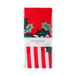 Mistletoe Candy Pamuklu 2'li Pano Yastık Kılıfı 50x70 Cm Kırmızı