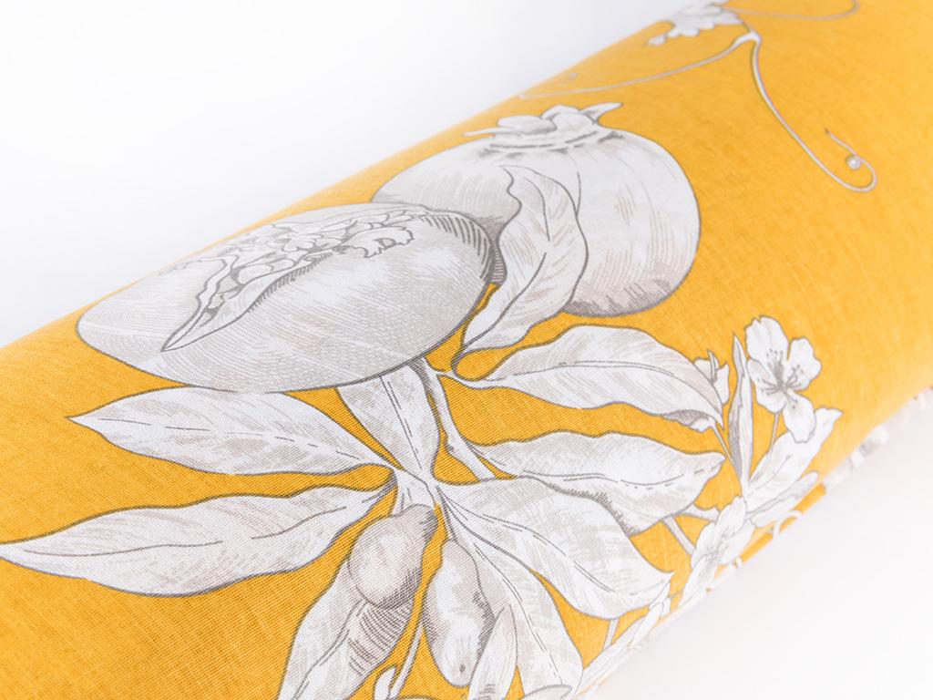 Luxury Garden Pamuklu Çift Kişilik Nevresim 200x220 Cm Sarı
