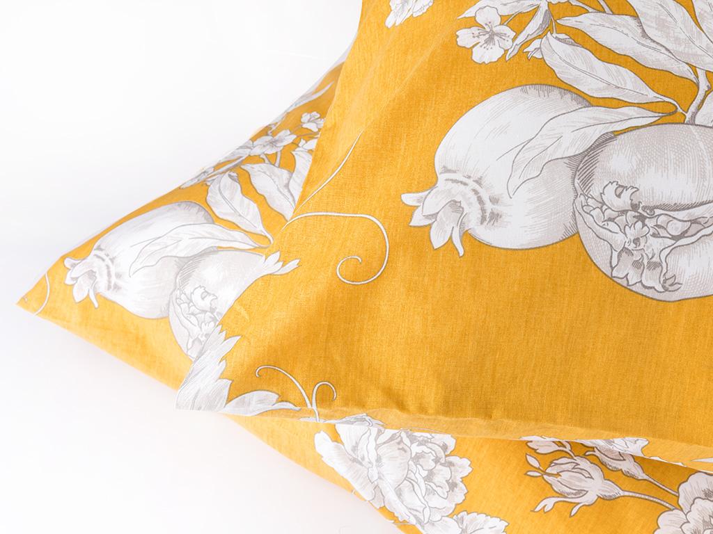 Luxury Garden Pamuklu 2'li Yastık Kılıfı 50x70 Cm Sarı
