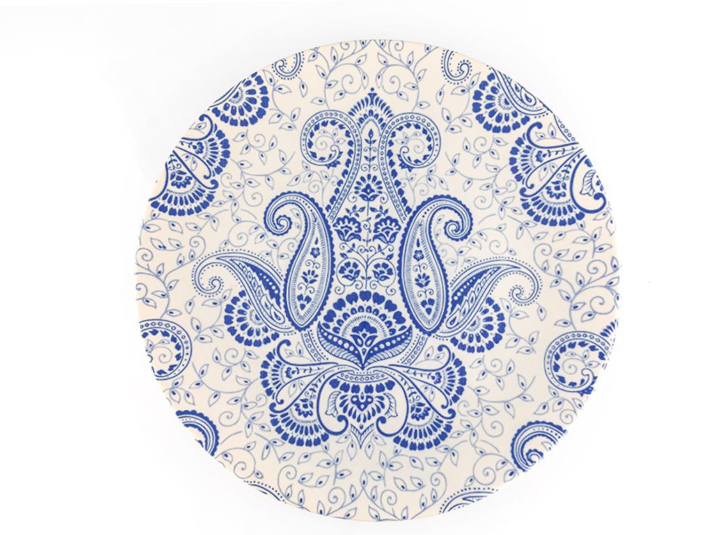 Berilda Seramik Servıs Tabağı 25 Cm Mavi