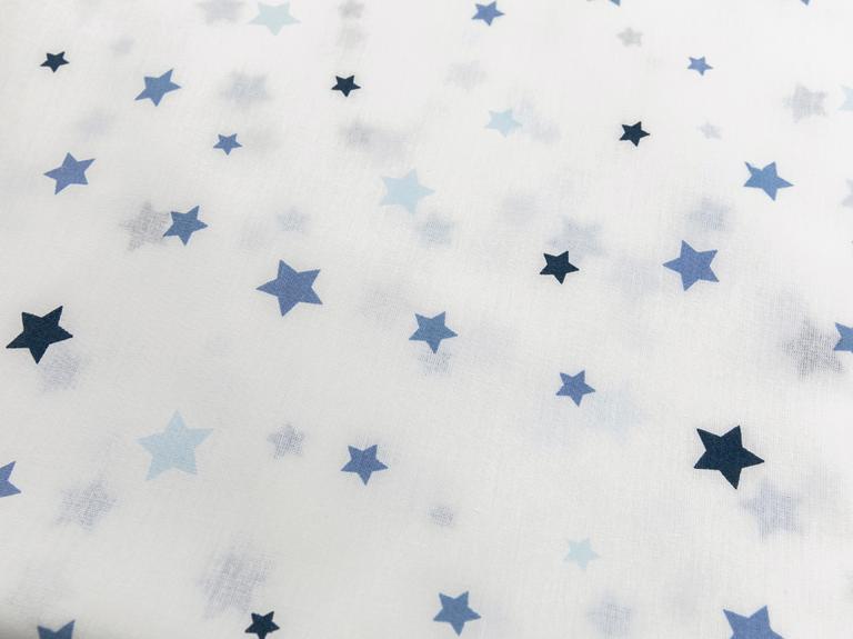 Starlit Pamuklu Tek Kişilik Çocuk Çarşaf 160x240 Cm Mavi