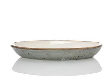 Lacy Porselen Oval Fırın Kabı 19 Cm Gri