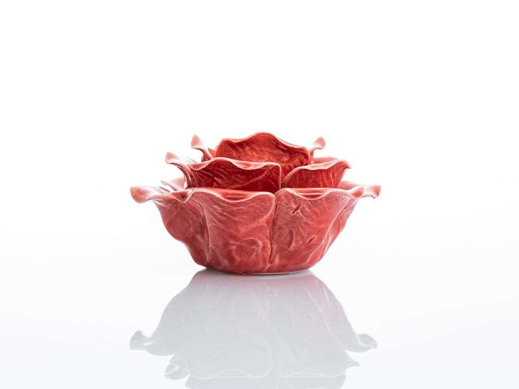 Glam Stoneware Mumluk 5x11x11 Cm Gül Kurusu