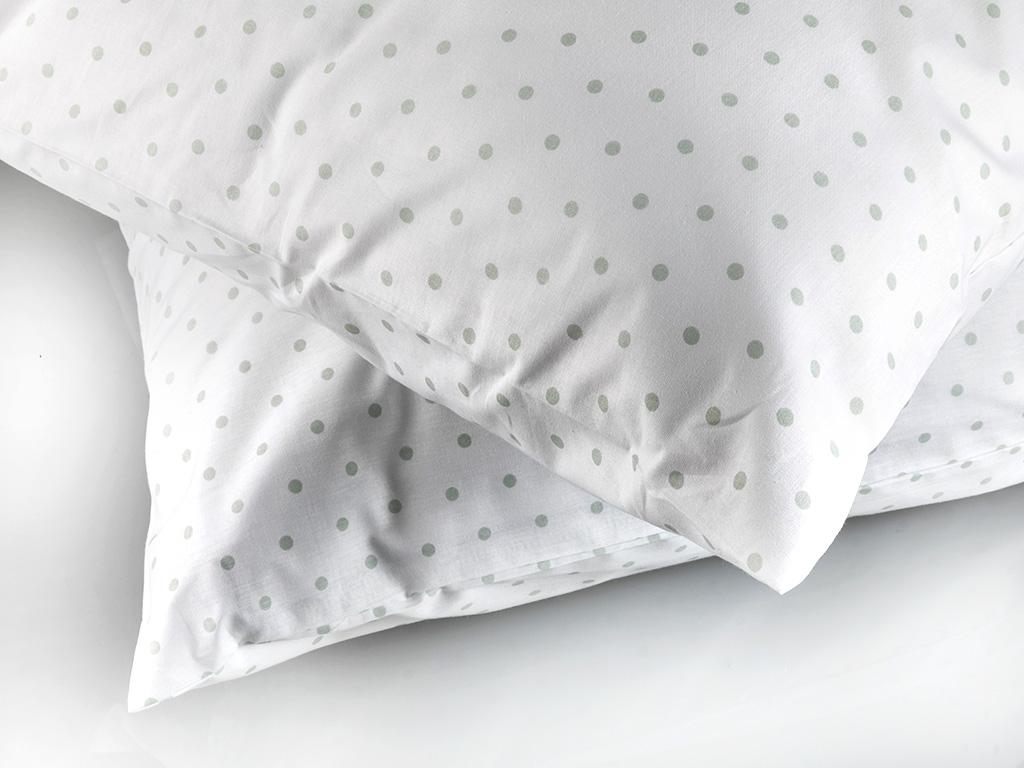 Dots Pamuklu 2'li Yastık Kılıfı 50x70 Cm Seledon