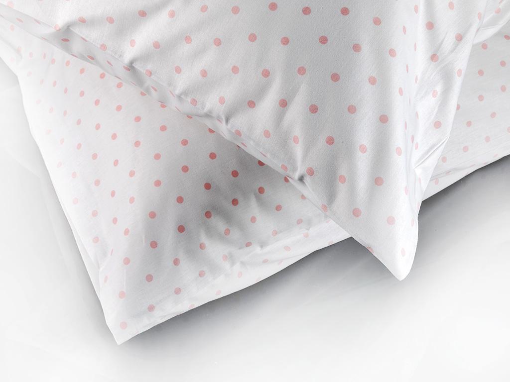Dots Pamuklu 2'li Yastık Kılıfı 50x70 Cm Pembe