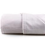 Stripe New Pamuklu Çift Kişilik Çarşaf 240x260 Cm Lila