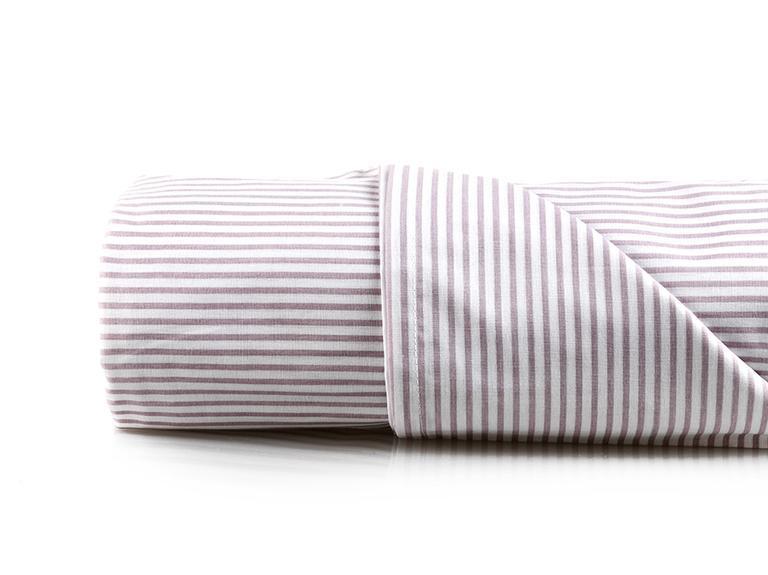 Stripe New Pamuklu Tek Kişilik Çarşaf 160x240 Cm Lila